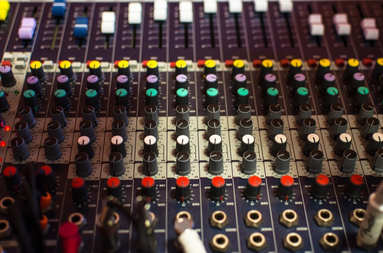 Live sound audio engineer mixing board console